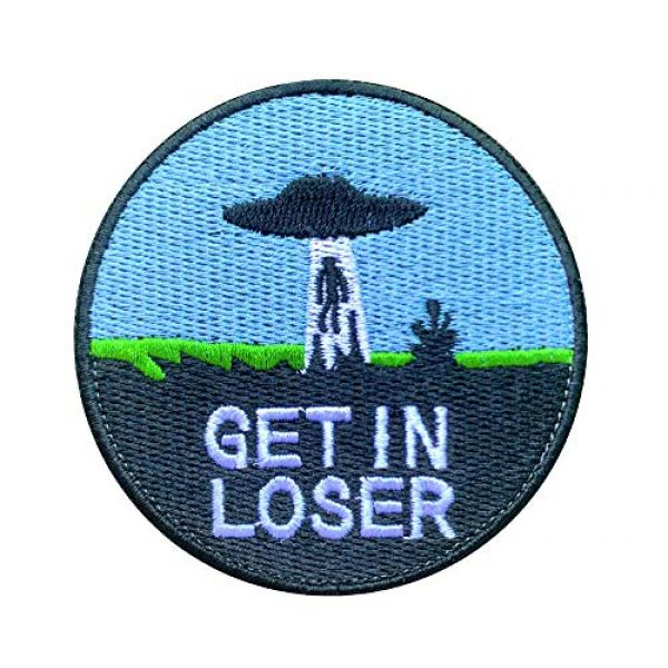 """Antrix Airsoft Morale Patch 1 Antrix Get in Loser Military Badge Emblem Patch Hook & Loop Tactical Funny Patch -Dia.3.15"""""""