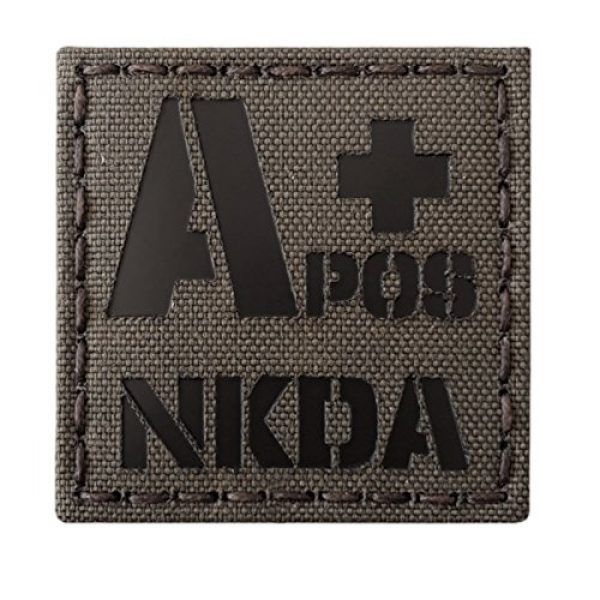 Tactical Freaky Airsoft Morale Patch 5 Ranger Green Infrared IR APOS NKDA A+ Blood Type 2x2 Tactical Morale Fastener Patch
