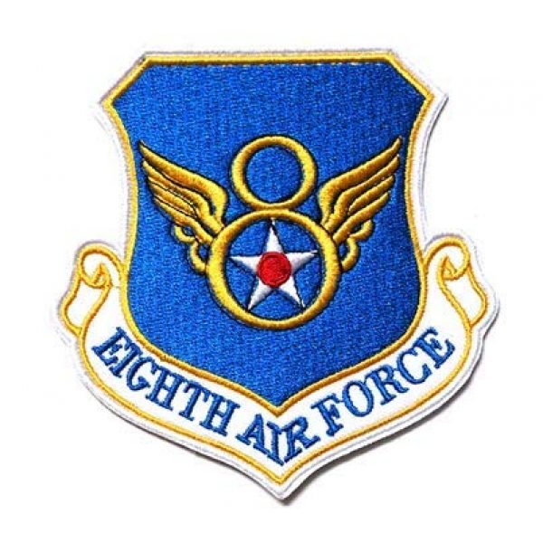 Tactical Embroidery Patch Airsoft Morale Patch 1 8th Eighth Air Force Embroidery Patch Military Tactical Morale Patch Badges Emblem Applique Hook Patches for Clothes Backpack Accessories