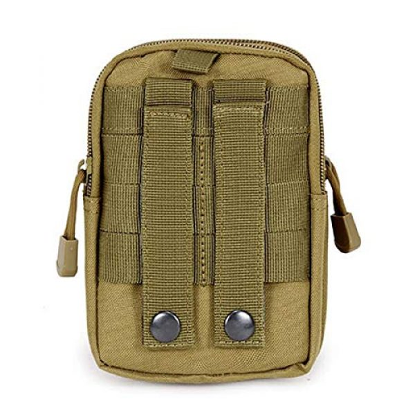 ASkinds Tactical Pouch 2 Tactical Pouch Multipurpose Waist Belt Bag Waterproof Nylon Cell Phone Holster Holder Phone Carrying Case Organizer Security Wallet Purse for Outdoor Men Camping Hiking(Khaki)