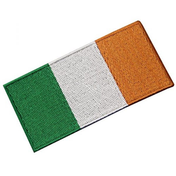 EmbTao Airsoft Morale Patch 4 Republic of Ireland Flag Embroidered Irish National Emblem Iron On Sew On Patch