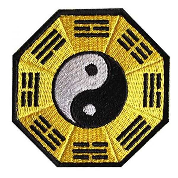 Embroidered Patch Airsoft Morale Patch 1 Karate Yin Yang Ying Tai Chi Martial Arts 3D Tactical Patch Military Embroidered Morale Tags Badge Embroidered Patch DIY Applique Shoulder Patch Embroidery Gift Patch
