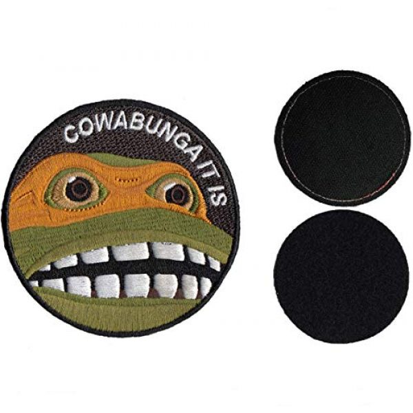 CowaBunga Airsoft Morale Patch 7 Cowabunga It is Embroidered Hook-Backed Morale Patch, Embroidered Patch Sew on Appliques Decorate Badge Hook-Backed Morale Patches Emblem DIY Accessories 3 Inch