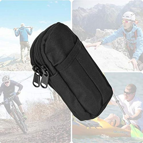 Shanbor Tactical Pouch 6 Shanbor Long Time Use Wear-Resistant Outdoor Accessory Bag, Convenient to Use 800D High Density Nylon Outdoor Bag, for(Black)
