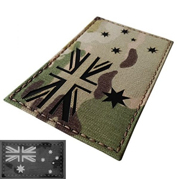 Tactical Freaky Airsoft Morale Patch 3 Big 3x5 Multicam Infrared IR Australia Flag IFF Tactical Morale Hook-and-Loop Patch