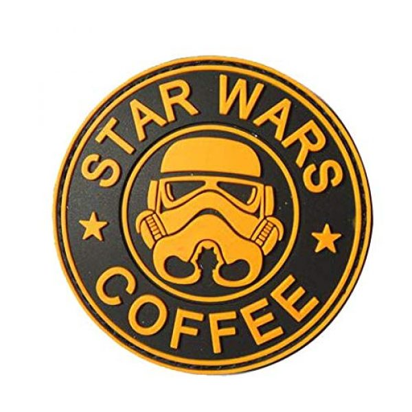 Tactical PVC Patch Airsoft Morale Patch 3 Star Wars Clone Trooper Helmet PVC Military Tactical Morale Patch Badges Emblem Applique Hook Patches for Clothes Backpack Accessories