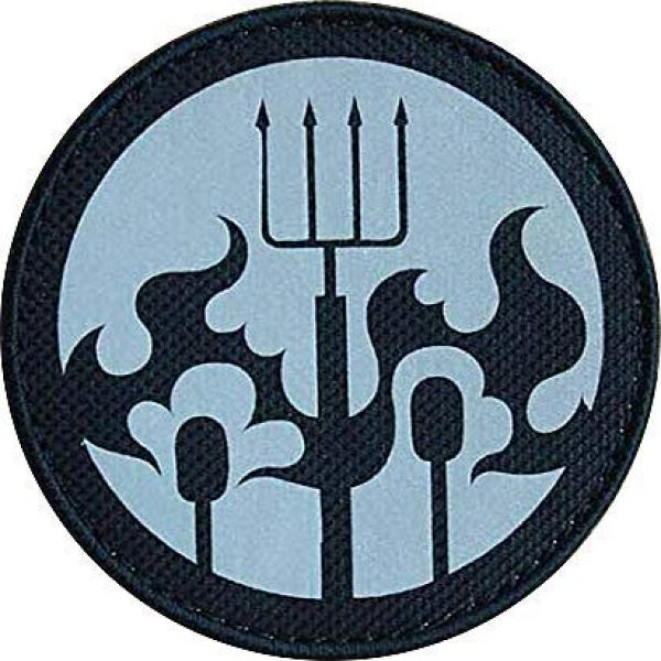 """Embroidery Patch Airsoft Morale Patch 1 SCP Foundation Special Containment Procedures Foundation SCP Mobile Task Forces Epsilon-6 Village Idiots"""" Military Hook Loop Tactics Morale Reflective Patch"""