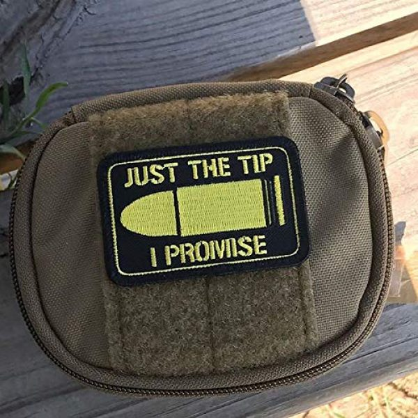 """Violent Little Machine Shop Airsoft Morale Patch 2 """"Just The Tip I Promise"""" Morale Patch by Violent Little - Embroidered Velcro"""