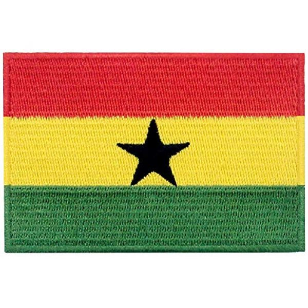 EmbTao Airsoft Morale Patch 1 EmbTao Ghana Flag Patch Embroidered National Morale Applique Iron On Sew On Ghanaian Emblem