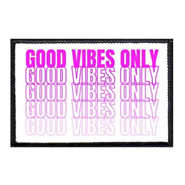 P PULLPATCH Airsoft Morale Patch 1 Good Vibes Only Purple Morale Patch   Hook and Loop Attach for Hats, Jeans, Vest, Coat   2x3 in   by Pull Patch