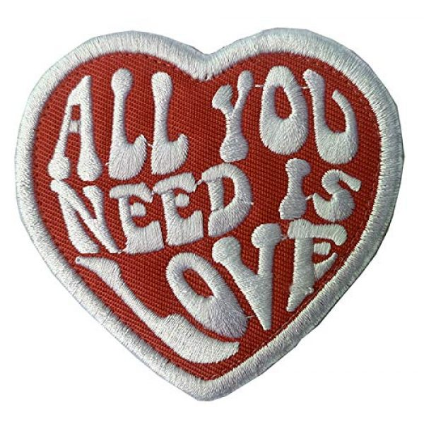 Antrix Airsoft Morale Patch 1 Antrix All You Need is Love Iron On Sew On Inspired Patch for Kids,Teens, Adult