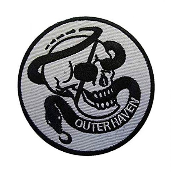 Embroidery Patch Airsoft Morale Patch 2 Metal Gear Solid Outer Heaven Military Hook Loop Tactics Morale Embroidered Patch