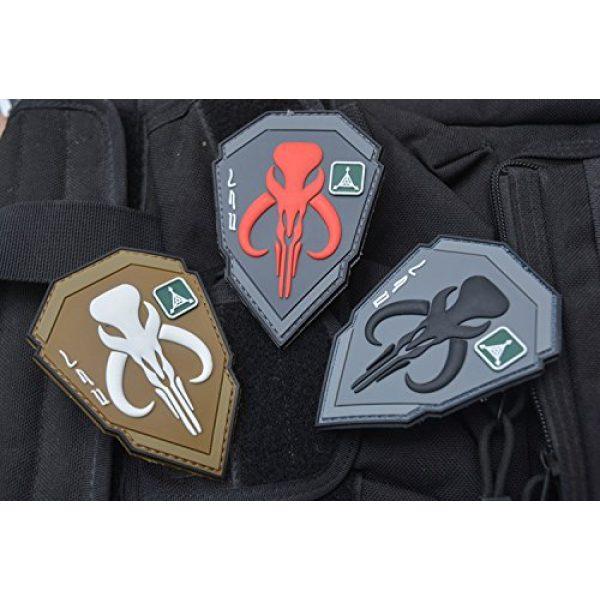 Zhikang68 Airsoft Morale Patch 5 Mandalorian Patch Mythosaur Skull Crest Shield Bounty Hunter Boba Fett Tactical Military Morale 3D PVC Rubber Armband Badge Emblem Applique (Red)