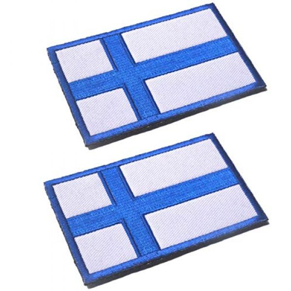 Tactical Embroidery Patch Airsoft Morale Patch 1 2pcs Finland Flag Embroidery Patch Military Tactical Morale Patch Badges Emblem Applique Hook Patches for Clothes Backpack Accessories
