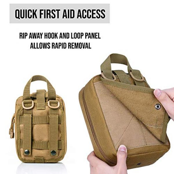 ASATechmed Tactical Pouch 4 ASATechmed Tactical Military MOLLE EMT First Aid IFAK Utility Medical Pouch Plus Free Matching Color EMT Shears Ideal Gift for First Responder, EMT, Paramedics, Soldiers, Police and Many More