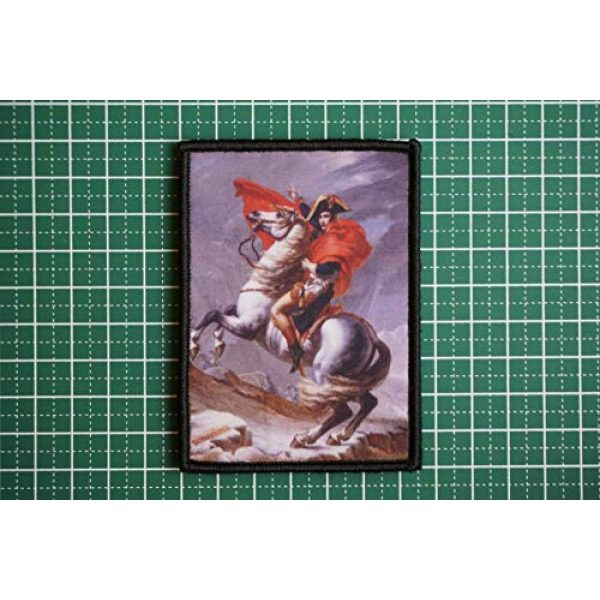 WAPPEN-YA DONGRI Airsoft Morale Patch 2 Morale Patch Hook and Loop Napoleon Crossing The Alps A0524