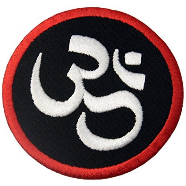 EmbTao Airsoft Morale Patch 4 Buddhist Symbol Inner Peace Patch Embroidered Morale Applique Iron On Sew On Emblem