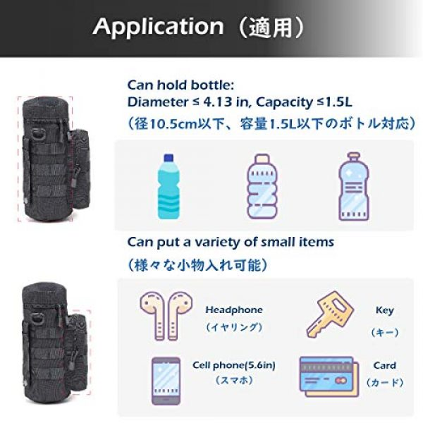 TRIWONDER Tactical Pouch 6 TRIWONDER Tactical MOLLE Water Bottle Pouch H2O Hydration Carrier, Military Bottle Holder Molle Drink Holder Travel Water Bottle Bag for Backpack Camping Outdoor