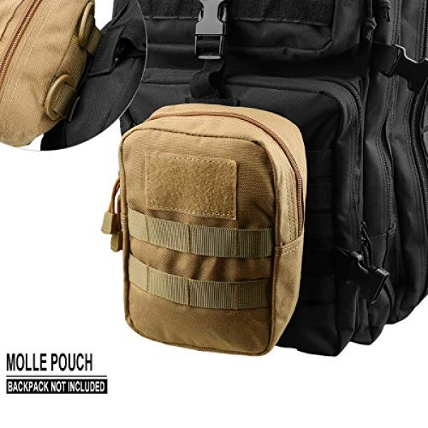 AMYIPO Tactical Pouch 5 AMYIPO Tactical Admin Molle Pouch Multi-Purpose Tool Holder Modular Utility Bag Tools EDC Admin Attachment Pouches
