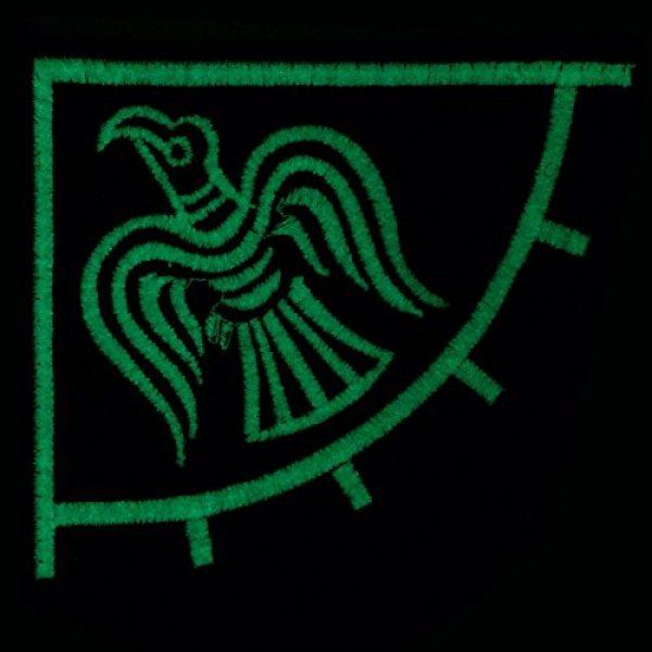 LEGEEON Airsoft Morale Patch 3 LEGEEON Glow Dark Rare Viking Raven Banner Odin God of War Embroidered Fastener Patch