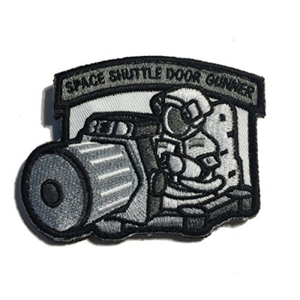 Empire Tactical USA Airsoft Morale Patch 1 The Tactical Space Shuttle Door Gunner Patch Combat Army Morale (Hook/Loop) Patch