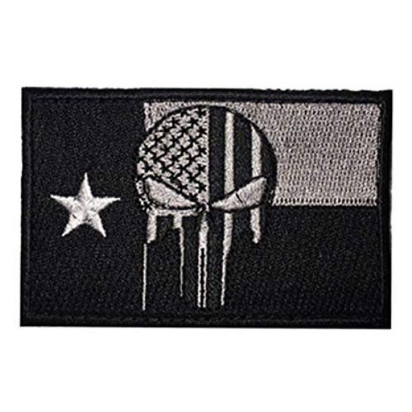 June Sports Airsoft Morale Patch 1 Texas State Flag Embroidered Patch Sew-On TX Lone Star Emblem ABG77