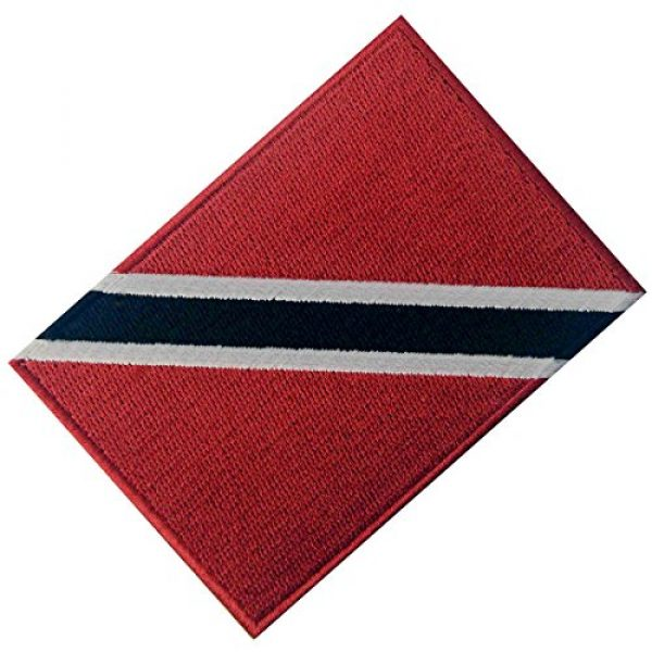 EmbTao Airsoft Morale Patch 3 Trinidad and Tobago Flag Embroidered Patch Caribbean Iron On Sew On National Emblem