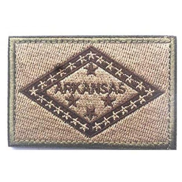 Tactical Embroidery Patch Airsoft Morale Patch 1 State Flag of Arkansas Embroidery Patch Military Tactical Morale Patch Badges Emblem Applique Hook Patches for Clothes Backpack Accessories