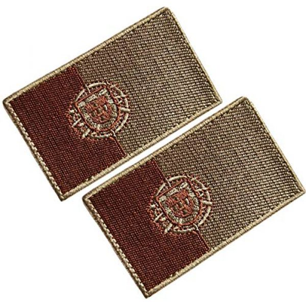HFDA Airsoft Morale Patch 1 HFDA 2 Piece Different Country Flags Patch - Tactical Combat Military Hook and Loop Badge Embroidered Morale Patch (Portugal 2)