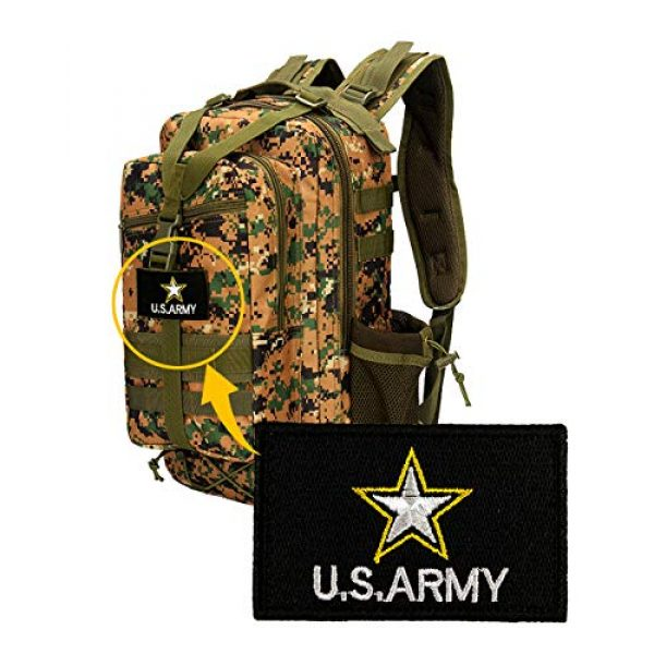 JumpyFire Airsoft Morale Patch 5 JumpyFire Stars USA Army Velcro Patch, 2 PCS Embroidered Military Morale Patches for Backpack Hat Jacket Jeans Uniform
