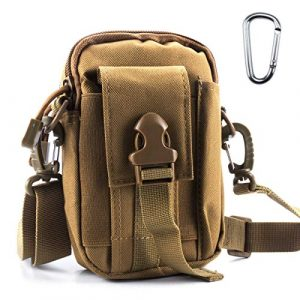 ofone Tactical Pouch 1 Tactical Molle Pouch Outdoor Sports Belt Waist Pack Bag Military Waist iPhone Gadget Money Pocket EDC Security Carry Case for Camping Hiking Mountaineering