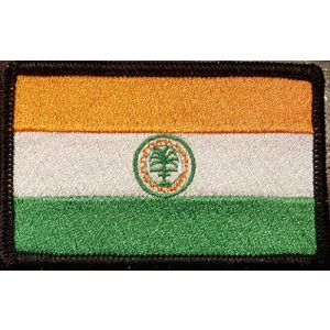Fast Service Designs Airsoft Morale Patch 1 City of Miami Florida Flag Iron-On Embroidered Applique Patch Tactical Morale Travel Magic City Emblem Black Border