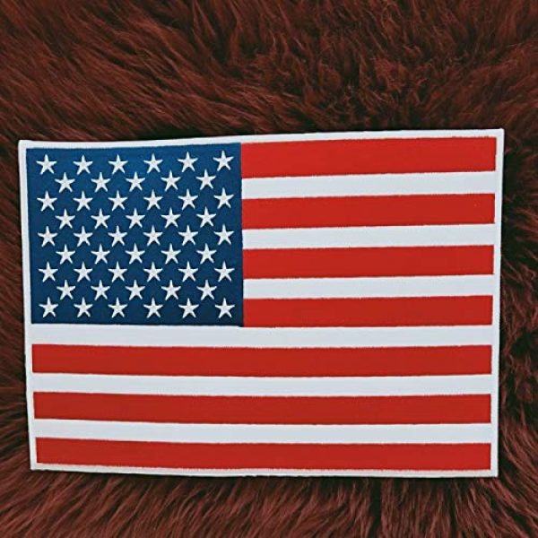 """Heavens Tvcz Airsoft Morale Patch 4 Heavens Tvcz Large XXL National Flag Embroidered Motorcycle for Men Women Teens Patches Thin Red White Line Morale Stars On Blue Background Tactical US Flag Worn Black United Jeans Women Patch 11"""" x 7"""