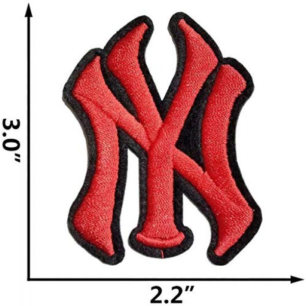 """Addones Airsoft Morale Patch 3 5 Random Baseball Team Logo Embroidered Patch Iron On Sew On Appliques Morale Hook and Loop Fasteners Backing Patches Sport Badge Emblem SignSize:2.2""""X3.0"""""""
