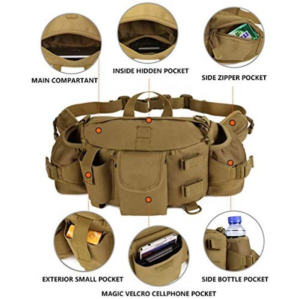 ANTARCTICA Tactical Pouch 4 ANTARCTICA 1050D Military Tactical Waist Pack Bag Fanny Pack Sling Bag Range Bag EDC Camera Bag with Shoulder Strap for Outdoor,Sports,Jogging,Walking,Hiking,Cycling
