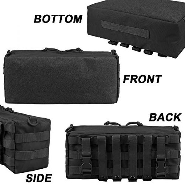 AMYIPO Tactical Pouch 3 AMYIPO Tactical Pouch Molle Admin Utility Pouches Multi-Purpose Large Capacity Increment Pouch Attachment Military Pocket Tool Holder Short Trips Bag