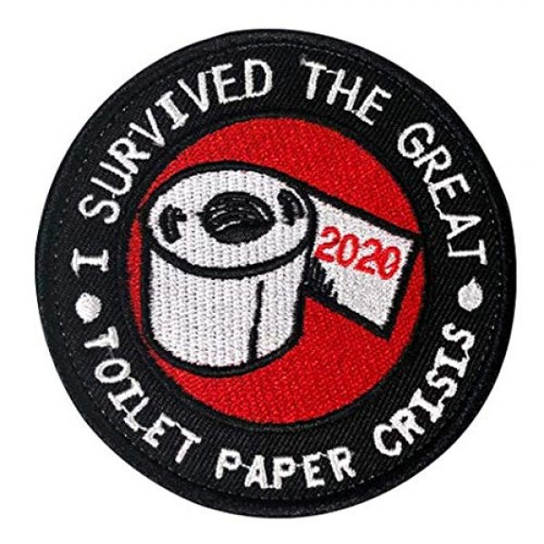 Embroidery Patch Airsoft Morale Patch 1 I Survived The Great Toilet Paper Crisis 2020 Embroidery Patch Military Tactical Clothing Accessory Backpack Armband Sticker Gift Patch Decorative Patch Embroidered Patch