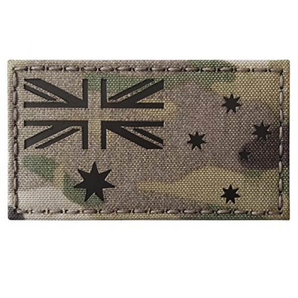 Tactical Freaky Airsoft Morale Patch 4 Australia Flag Multicam Infrared IR 3.5x2 IFF Tactical Morale Fastener Patch