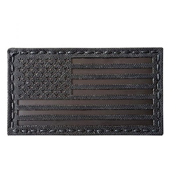 Tactical Freaky Airsoft Morale Patch 2 Blackout Infrared IR USA American Flag 3.5x2 IFF Tactical Morale Hook&Loop Patch