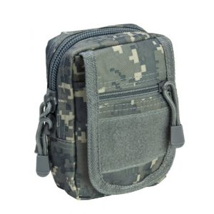 m1surplus Tactical Pouch 1 VISM by NcStar MOLLE PALS Utility Pouch - Digital Camo Color - Fits small electronic dvices including most cell phones, GPS devices, cameras, medical supplies, flashlights and small tools