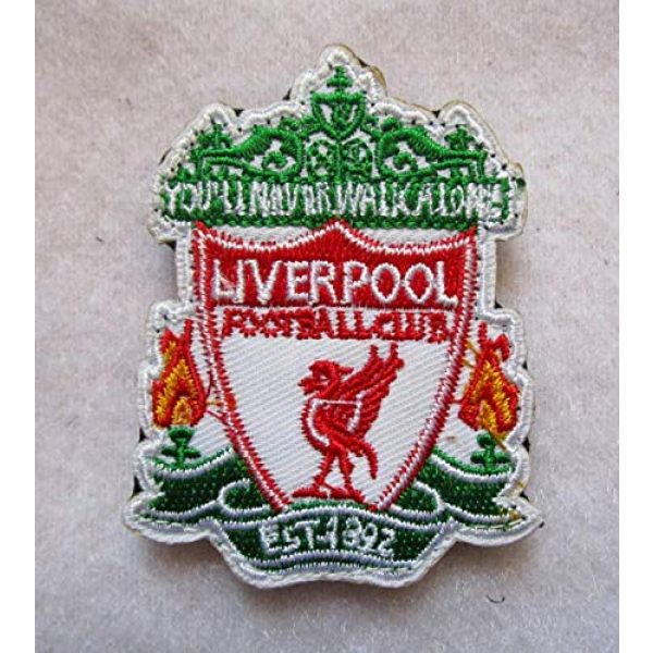 Embroidered Patch Airsoft Morale Patch 1 L-iverpool Football Club 3D Tactical Patch Military Embroidered Morale Tags Badge Embroidered Patch DIY Applique Shoulder Patch Embroidery Gift Patch