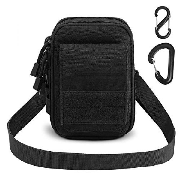 AIRSSON Tactical Pouch 1 AIRSSON Tactical Molle Pouch, 1000D Nylon EDC Belt Waist Pouch Molle Small Utility Gadget Gear Tool Black for Men