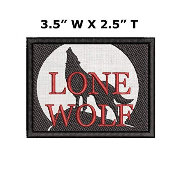 Appalachian Spirit Airsoft Morale Patch 2 Lone Wolf Tactical Saying Morale Military Tag Embroidered Premium Patch DIY Iron-on or Sew-on Decorative Badge Emblem Gear Clothes Appliques