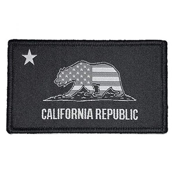 F-Bomb F Morale Gear Airsoft Morale Patch 1 Patriotic California Republic Flag - Embroidered Morale Patch with Hook Backing (SWAT)
