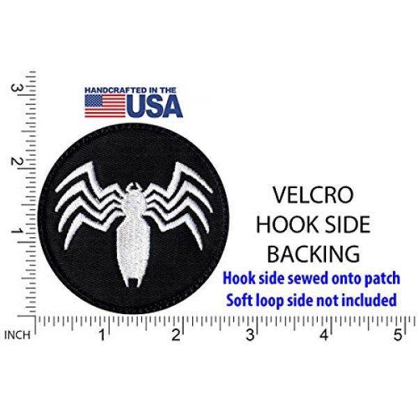 Tactical Patch Works Airsoft Morale Patch 2 Venom Spider Shape Logo Patch