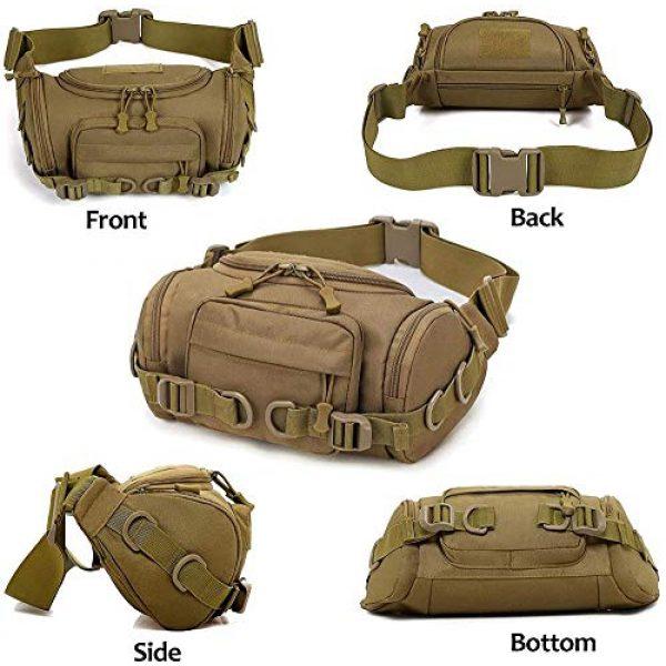 ACOMOO Tactical Pouch 2 ACOMOO Tactical Fanny Pack Portable Waist Bum Bag for Men Women Black