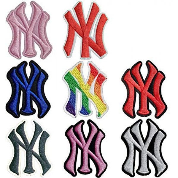 """Addones Airsoft Morale Patch 1 5 Random Baseball Team Logo Embroidered Patch Iron On Sew On Appliques Morale Hook and Loop Fasteners Backing Patches Sport Badge Emblem SignSize:2.2""""X3.0"""""""