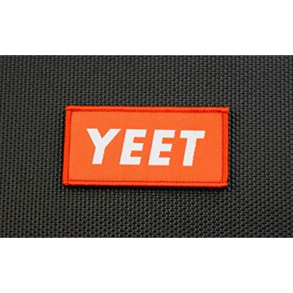 BritKitUSA Airsoft Morale Patch 2 BritKitUSA YEET Woven Morale Patch Supreme Parody Hook and Loop Backing