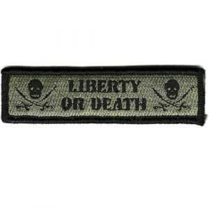 Gadsden and Culpeper Airsoft Morale Patch 1 Liberty Or Death Tactical Morale Patch - ACU/Foliage