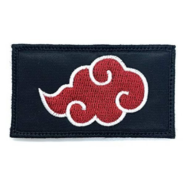 Almost SGT Airsoft Morale Patch 1 Akatsuki Red Cloud Patch Naruto - Funny Tactical Military Morale Embroidered Patch Hook Backing